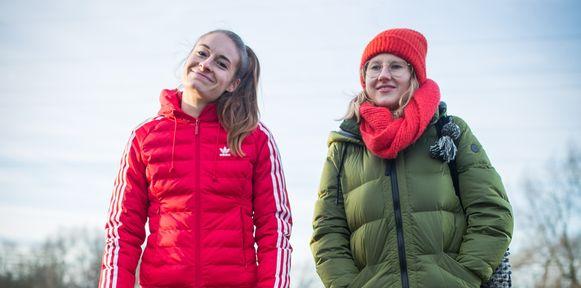 Tessa Wullaert (links) ondersteunt de campagne van Haïke Vandecasteele en Topwijf.