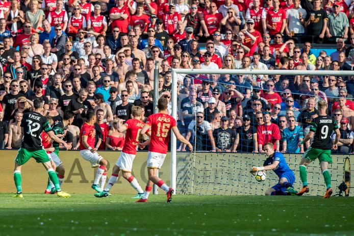 De laatste keer dat AZ tegen Feyenoord speelde, de verloren bekerfinale van vorig seizoen.