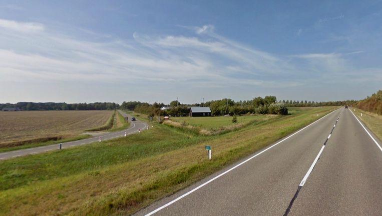 Het deel van de N497 waar het ongeluk gebeurde Beeld Google Streetview