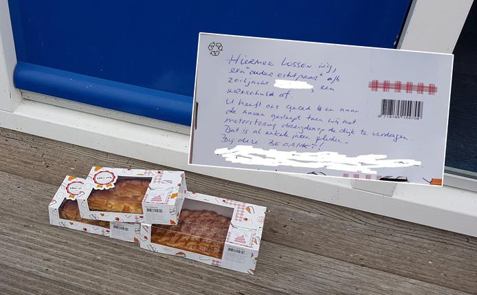 taart urk Ouder echtpaar dankt redders jaren na dato met taart op Urk | Urk  taart urk