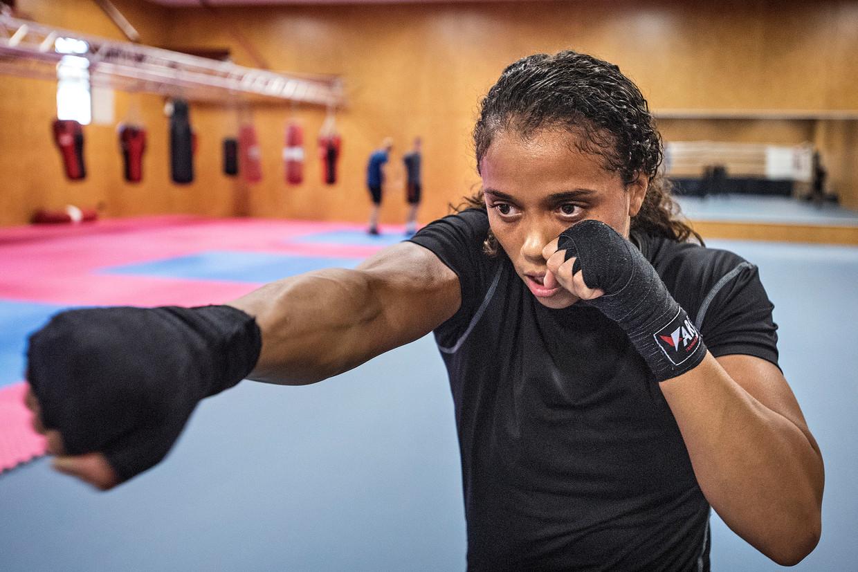 Jemyma Betrian (27) is een killer in de ring: 'Als ik de ring instap, wil ik knallen'