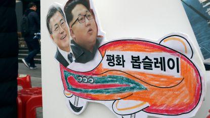 Noord- en Zuid-Korea onder één vlag bij opening Winterspelen