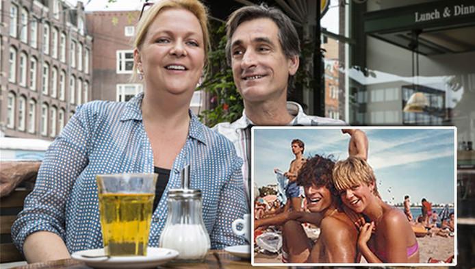 Caroline Griep met haar voormalige vakantieliefde Alexander. Beiden zijn na 35 jaar nog altijd bevriend.