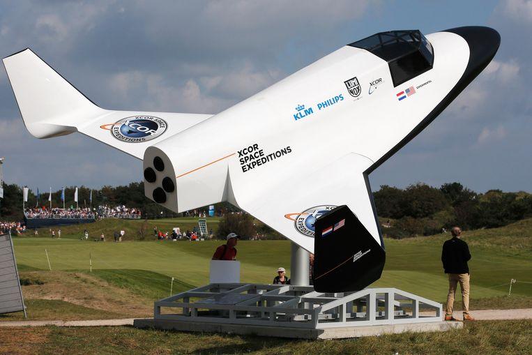 Een XCOR-ruimteschip. Beeld null
