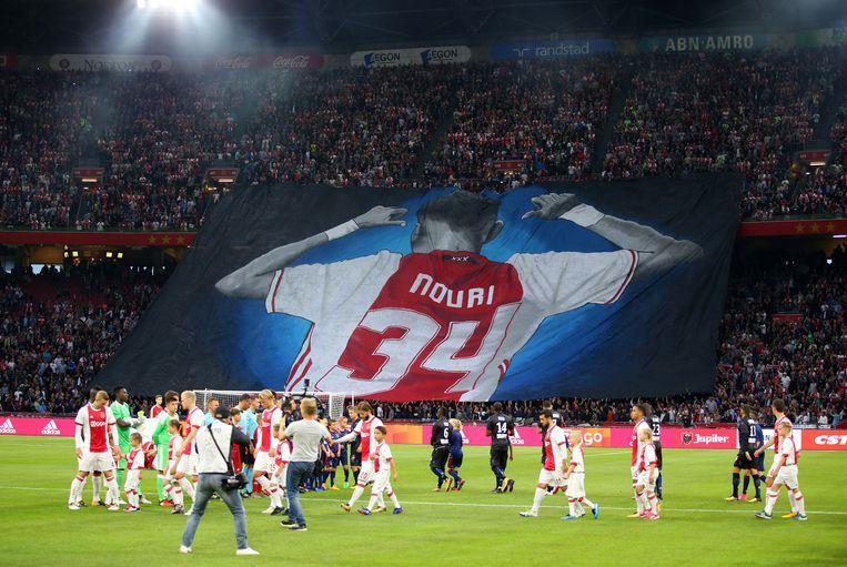 Ajax-fans erren Nouri. Beeld ANP