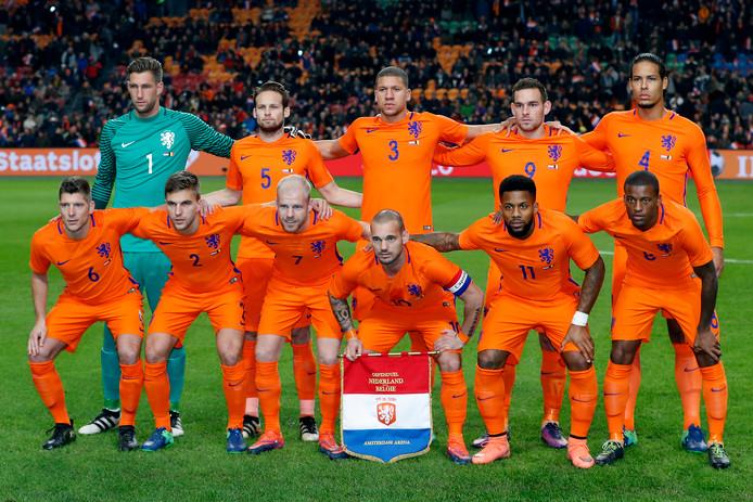 Het Nederlands elftal voor de oefeninterland tegen België in november.
