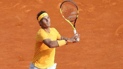 Nadal neemt eerste horde in Monaco - Goffin bereikt kwartfinales in dubbelspel