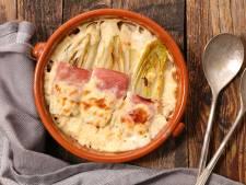 Wat Eten We Vandaag: Witlofschotel met ham en kaassaus
