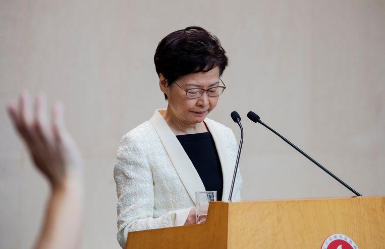 Regeringsleider Carrie Lam. Beeld EPA