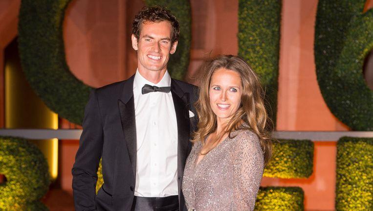 Andy Murray aan de zijde van zijn vrouw Kim Sears
