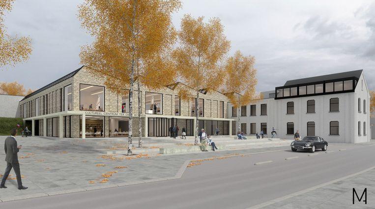 Een toekomstbeeld van CC Ter Dilft, na een renovatie van minstens 8,8 miljoen euro.