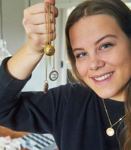 Kneaup van Lauren (20) uit Heesch geeft de knoop een nieuw leven als sieraad