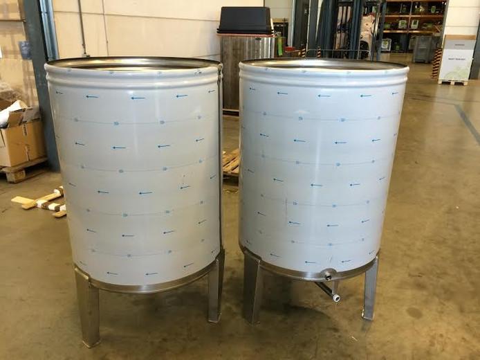 De ketels van ieder 550 liter