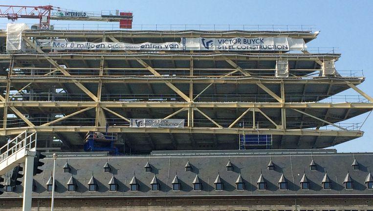Het Havenhuis in Antwerpen in aanbouw, van Zaha Hadid Architects.