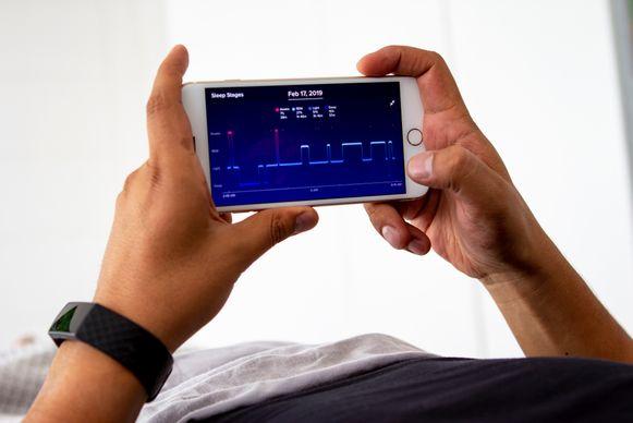 Met de Fitbit kan je allerhande gegevens over je gezondheid bijhouden.