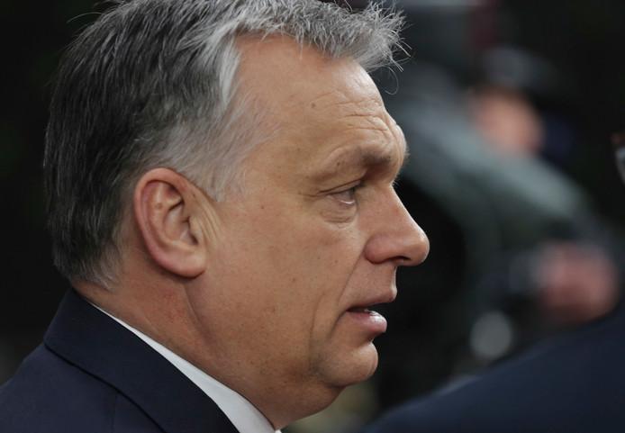De Hongaarse minister Orbán.
