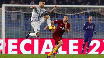 Inter, zonder Radja Nainggolan, laat twee keer voorsprong uit handen glippen op bezoek bij AS Roma