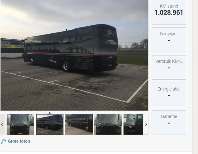 De aangeboden bus.