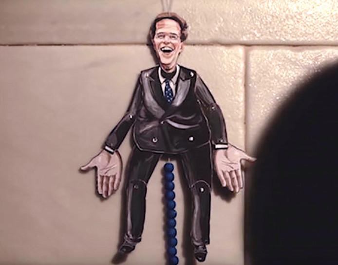 Trekpop Rutte in de campagnevideo van de SP