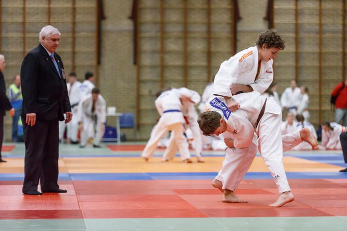Een judotoernooi in sporthal De Omganck in Wouw. Kan dat over vijf jaar nog steeds?