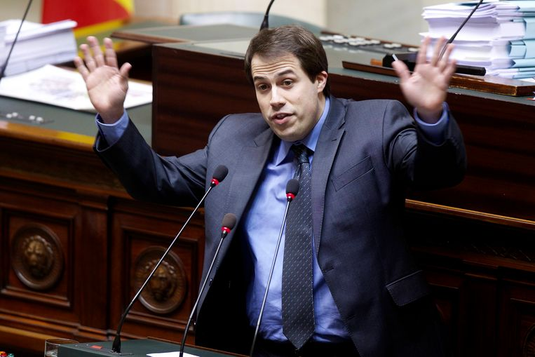 Laurent Louis in 2014 in de Kamer.