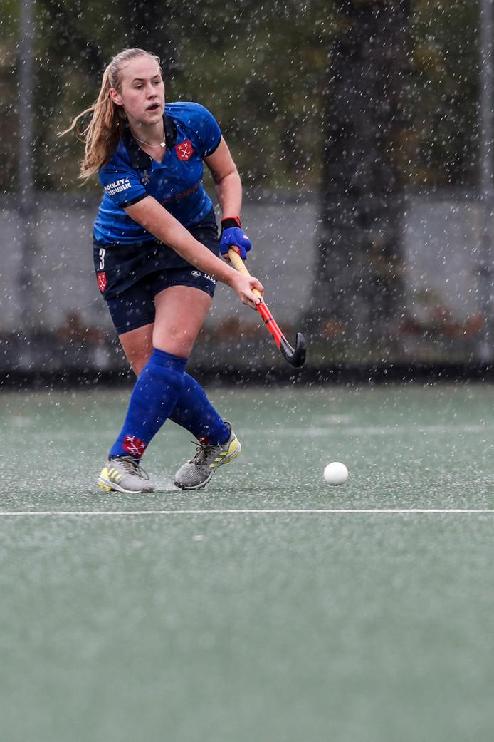 Het hagelde stevig halverwege de eerste helft in Breda.