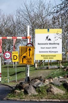 Drukte door werk aan de Waalbrug: Blijft het zo? Ja, anderhalf jaar lang