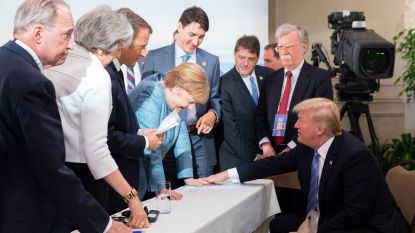 Maar als 'The Donald' terugkijkt, ziet hij G7 zó
