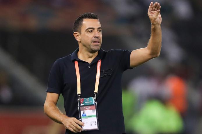 Xavi als coach van Al Sadd.