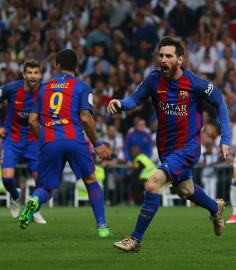 Barcelona terug in titelrace na winnende goal Messi in Clásico