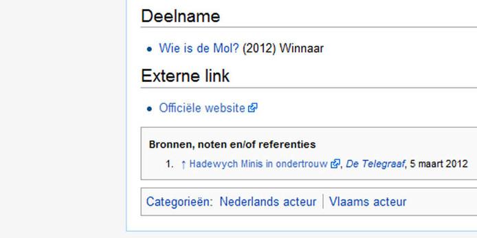 Screenshot Wikipedia.