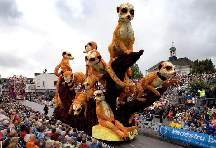 De bewegende stokstaartjes van Buurtschap 't Stuk wonnen in 2008 de publieksprijs.