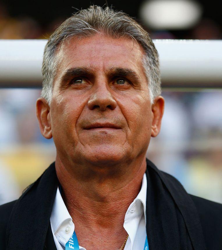De Iraanse bondscoach Carlos Queiroz gaat ervan uit dat hij 'een verstandige oplossing zal vinden' als zijn team moet spelen tijdens de ramadan. Beeld getty