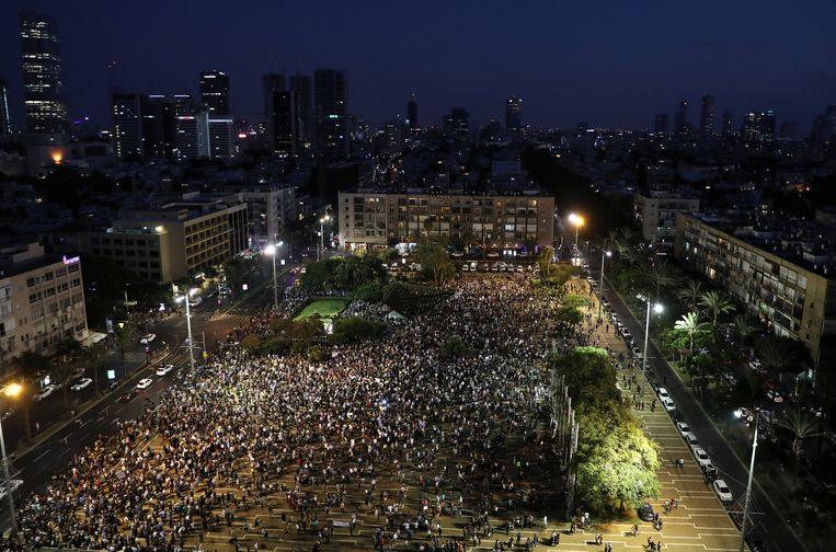 Betogingen in Tel Aviv.