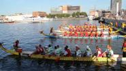 Antwerpse brandweer wint race met Chinese drakenbootjes