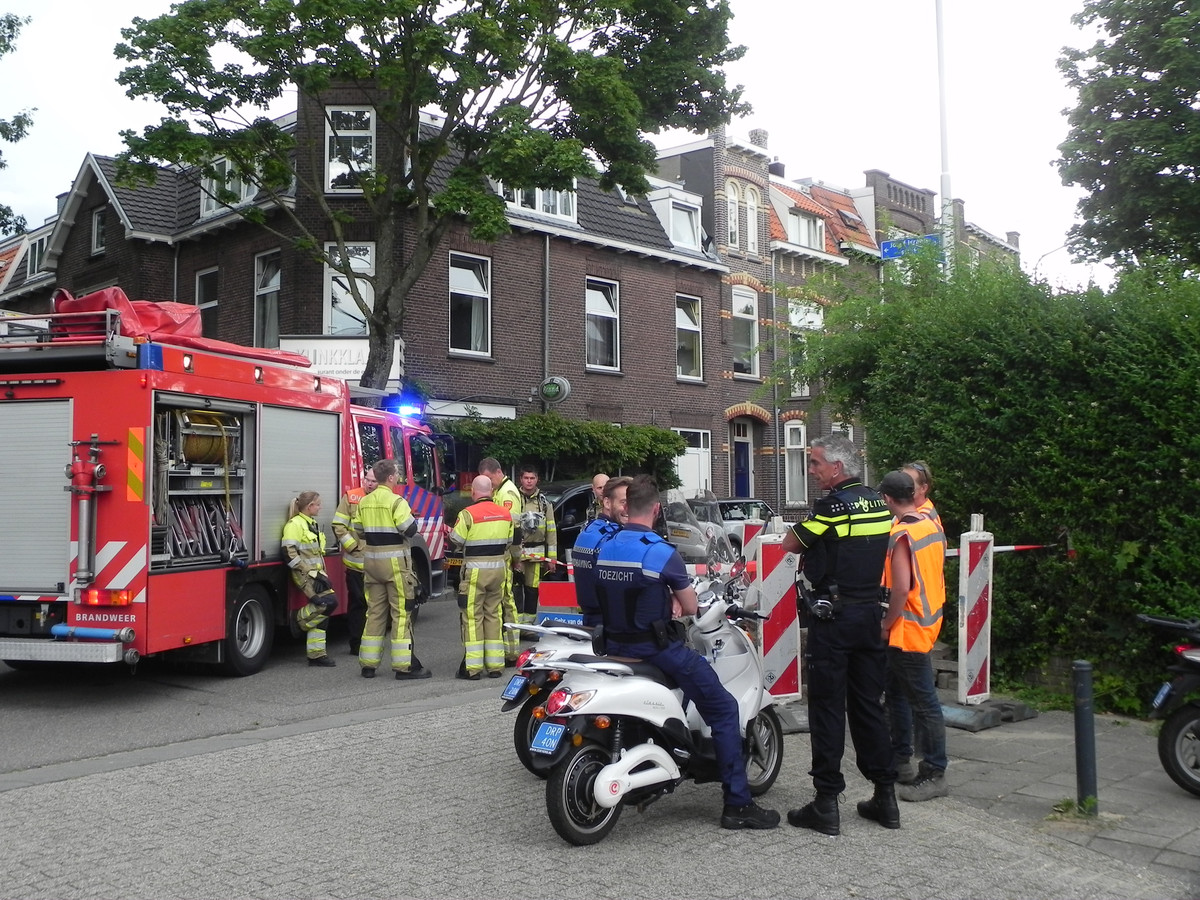Gaslek in de Tooropstraat.