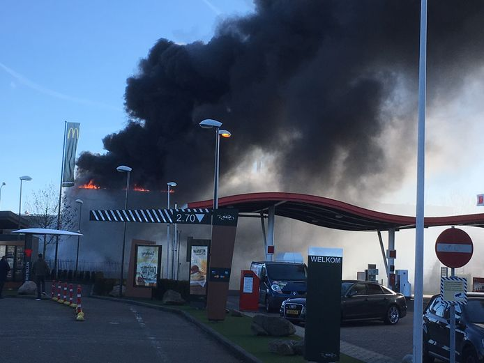 Grote brand in Oosterhout.