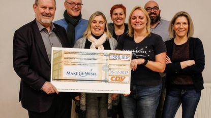 Mooie cheque voor Make A Wish