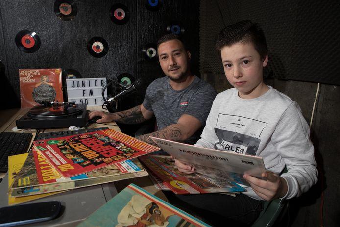 Links vader Rudi Gerrits en rechts zoon Yairo Gerrits (12).
