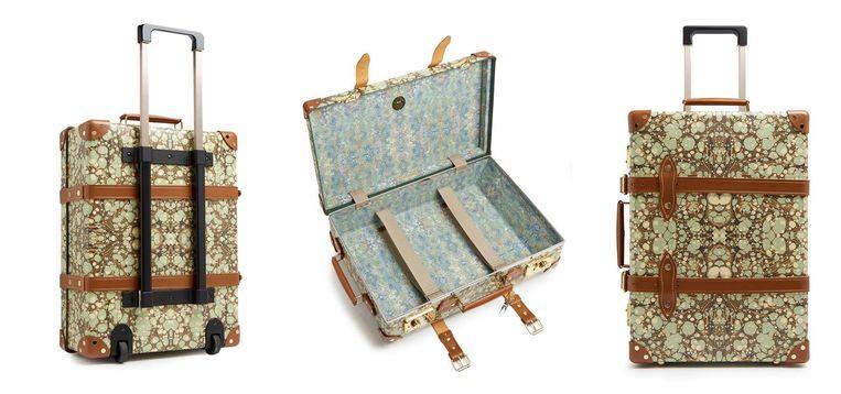 In samenwerking met kofferfabrikant Globe-Trotter zette webwinkel Matches Fashion een lijn van koffers met marmermotief op.   Beeld Matches Fashion x Globe-Trotter