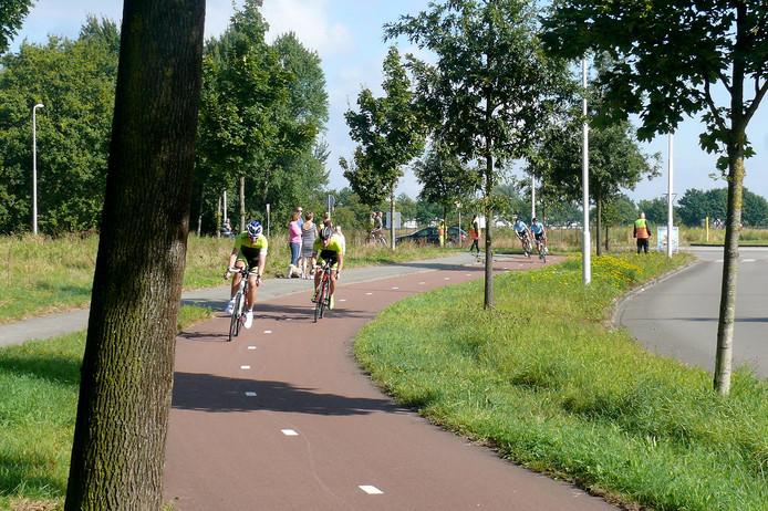 Kop over Kop race in volle gang bij Roosendaal Foto Alfred de Bruin