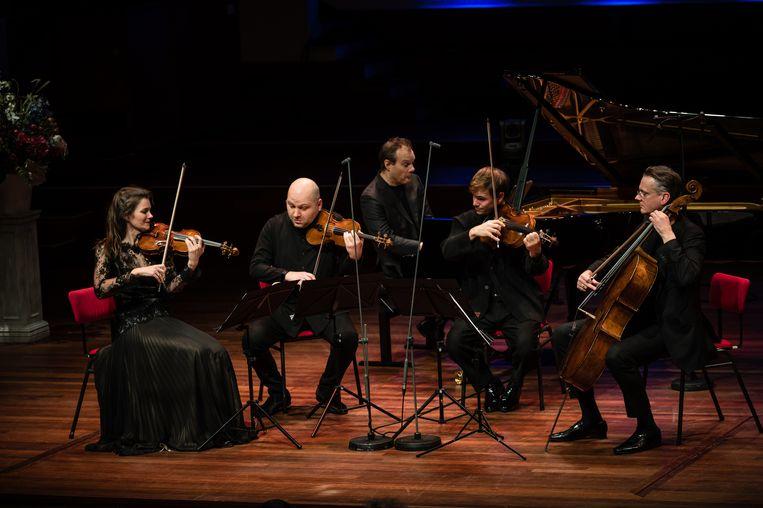 Tweede pianokwintet van Dvořák in de Grote Zaal van TivoliVredenburg. Beeld Majanka Fotografie