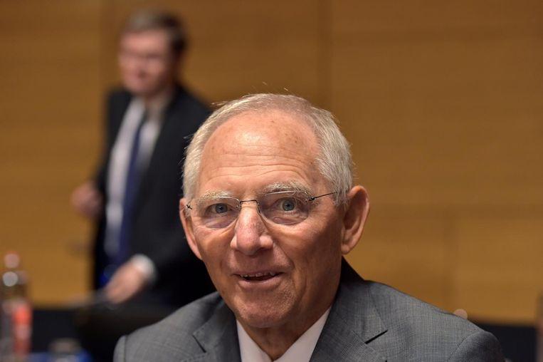 Wolfgang Schäuble, Minister van Financiën, 'Fluwelen aftocht' Beeld reuters