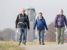 Lentesfeer bij winterwandeltocht  in Sint Philipsland