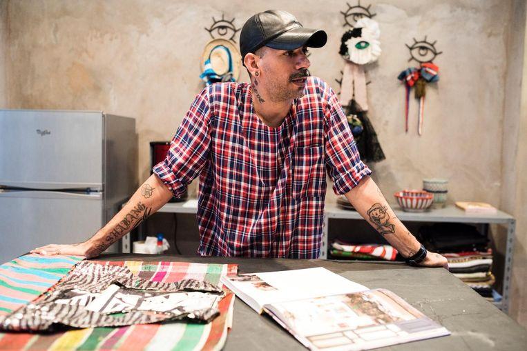 Modeontwerper Artsi Ifrach, beter bekend als ART/C. Beeld Dim Balsem