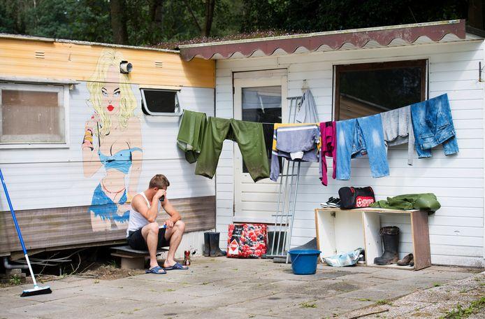 Huisvesting van Poolse arbeidsmigranten op een recreatiepark in Rijsbergen. Foto ter illustratie.