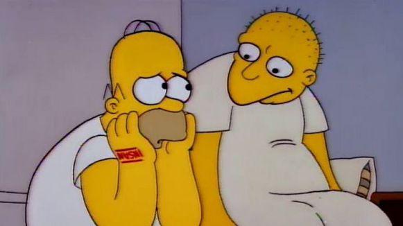 Homer met Leon Kompowsky in de psychiatrische instelling.
