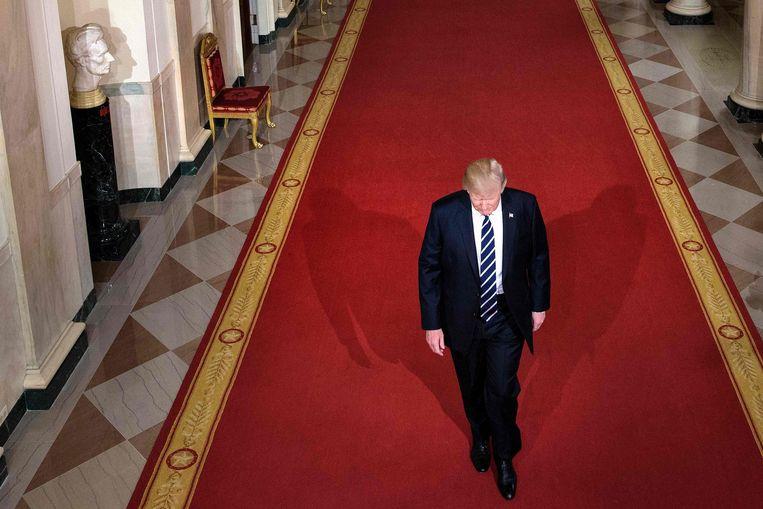 Trumps gebrek aan zelfkennis geeft hem iets naïefs en aandoenlijks. Beeld AFP