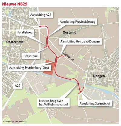VVD Dongen: haast met nieuwe N629