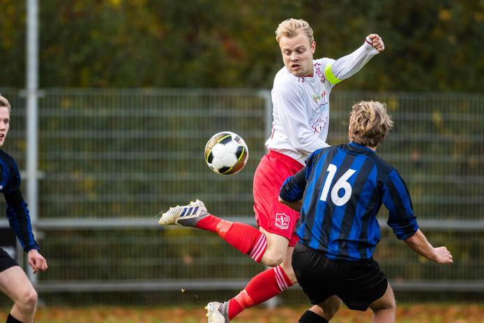 Hoogstandje van FC Kraggenburg-aanvoerder Kees Tadema.